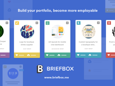 Briefbox product shot briefbox cards typography illustration ux learn education briefs