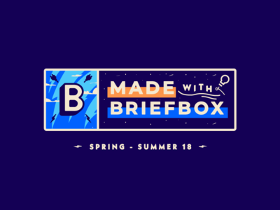 Made with Briefbox; Spring/Summer showcase lockup stamp badge offset education briefs lightning electricity