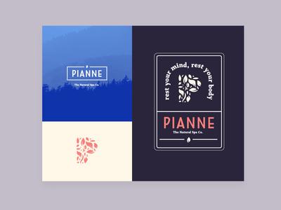 Pianne Healing Rooms beauty spae health print design custom logo brand lettering