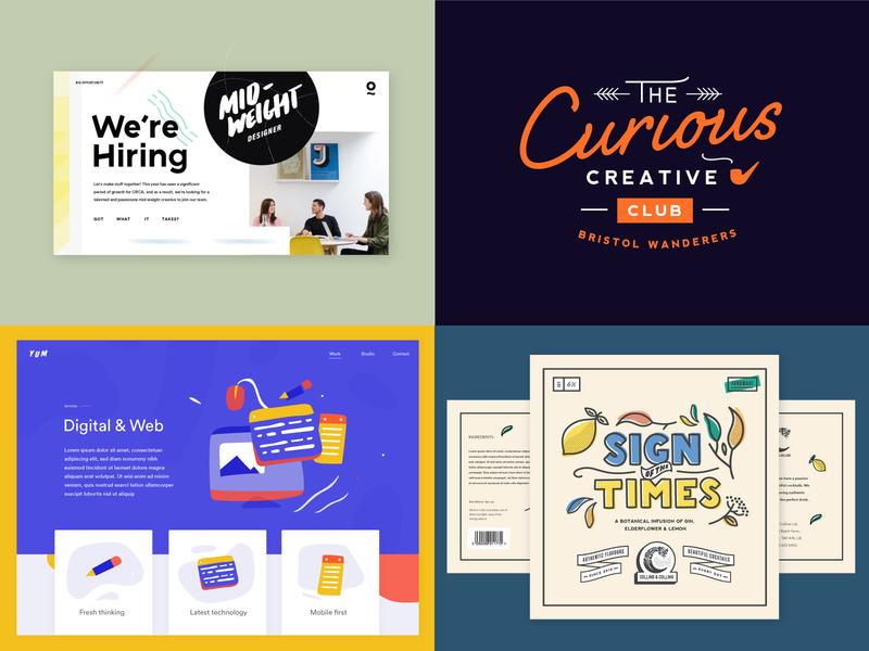 2018 - my top 4! branding illustration type typography website brand lettering