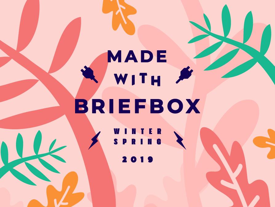 Made With Briefbox Winter-Spring 19 briefbox fun illustration website brand lettering