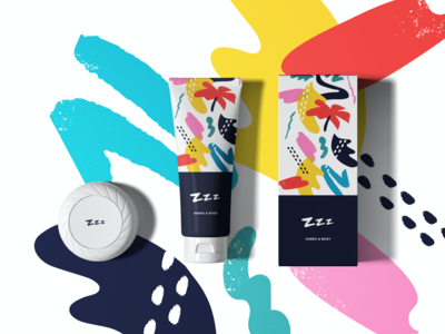 ZZZ Branding cosmetic packaging fun health cosmetic packaging brand identity illustration design pattern brand