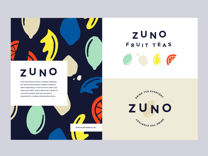 Zuno brand exploration nature art leaf lime orange lemon illutration identity packaging drink brand healthy organic natural fresh tea fruit