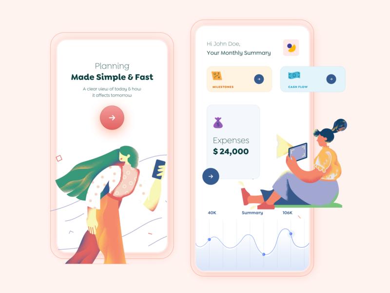 Planning App Design Concept dubai ios app design ios app android app android app design mobile app design app design visual ui  ux uiux design trending popular typography illustration ui design ux vector design ui minimal