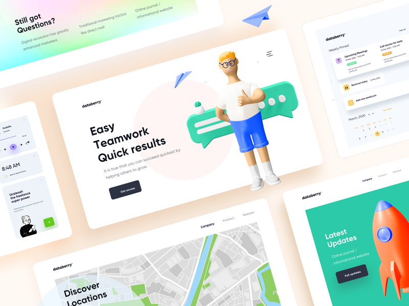 Teamwork Web Theme Design mimimal typography mobile illustration theme design product design questions dashboard ui dashboad 3d illustration ui design landing page website website design web design location maps teamwork 3d design 3d