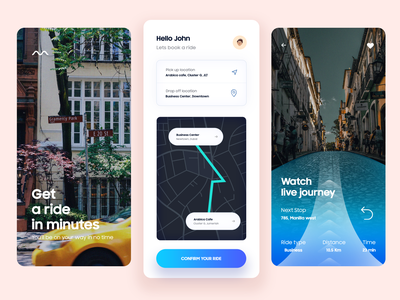 Book a Ride App ui animation location app minimal booking app virtual reality augmented reality ai booking lyft careem uber location cab ride map typography design mobile app