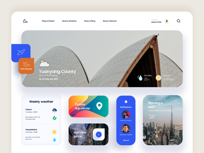 Weather App / Dashboard Design landing creative ux ui clean ui modern abstract vector gradient illustration product design typography minimal design dashboard design admin panel admin dashboad app web