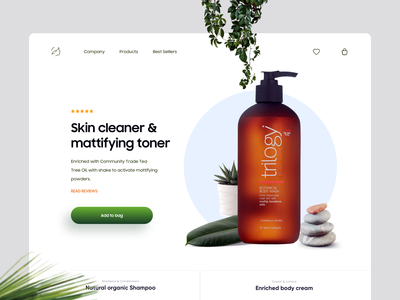 Minimal Product Detail page typography skin care dubai designer gradient creative ux ui design minimal skin cosmetics ecommerce shopping detail page product design product detail product design landing website web
