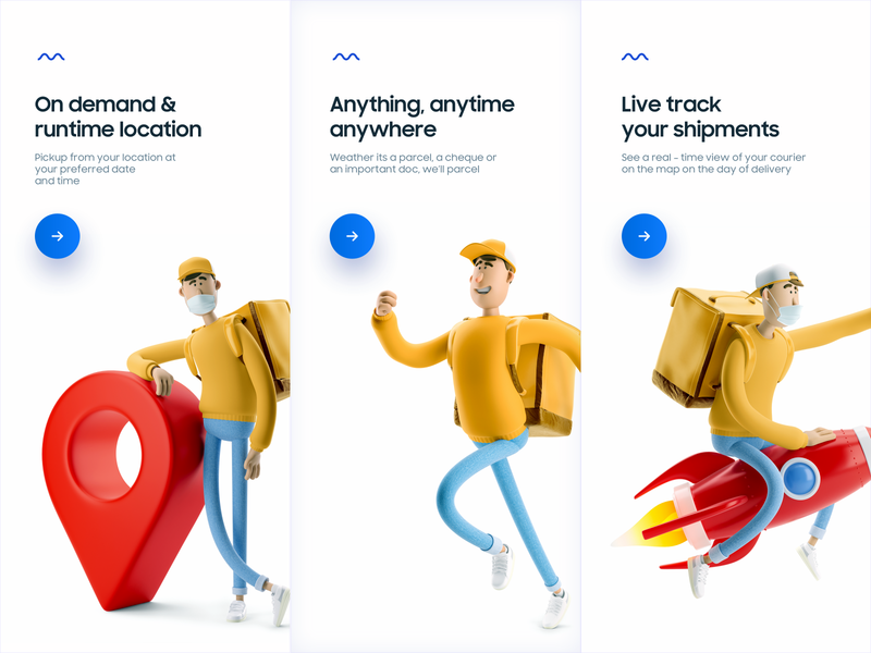 Delivery App onboarding screens illustration tracking shipment location tutorial delivery app minimal delivery 3d onboarding screen onboarding ui onboarding ui design ux ui mobile app mobile app design design app