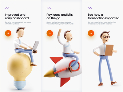 Finance App Onboarding Screen product design typography illustration creative minimal payment wallet banking finance character 2d 3d application mobile website web design app onboarding ui onboarding
