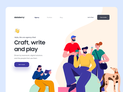 Digital Agency Landing Page agency write people art landing page design landing design dubai designer web design app vector minimal mobile typography product design illustration design landing page landing website web