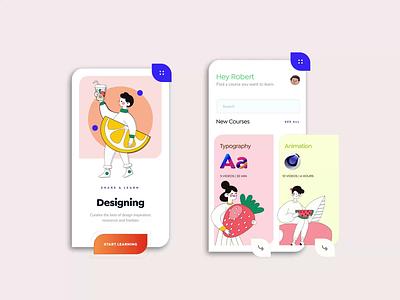 Online Course App Design dubai mobile app design mobile design designs application ui mobile app mobile ui mobile ui ui design minimal typography vector product design design illustration animation application app design app