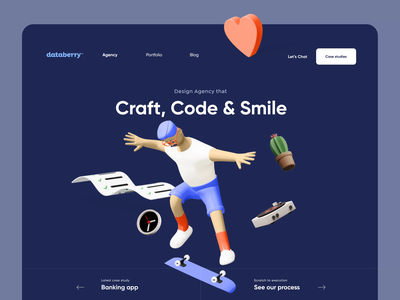 Design Agency Landing Page Desig code agency banking creative minimal ui design typography illustration 2d 3d product design animated animation landing page design landing page landing web design website web