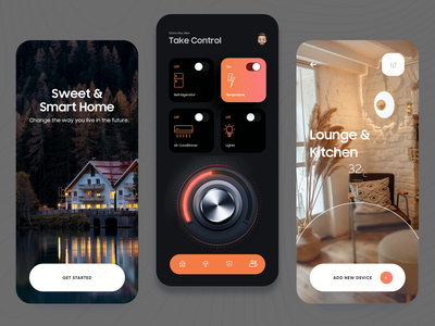 Smart Home App Design application ux design ui typography product design illustration mobile app design website design web design website house home smart smart home mobile app mobile app design app