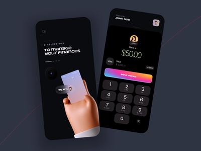 Bank / Finance / Payment App web landing page design landing page landing online credit card card money transfer banking finance android ios apps mobile app design mobile app mobile app design app bank