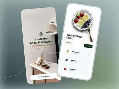 Recipe App Design illustration design typography product design ios app android ios minimal app food order online food recipe app food app mobile app design mobile app mobile app design app ingredients food recipe