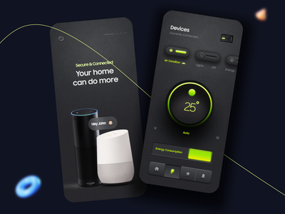 Smart Home App Concept android ios house home smart smart home mobile app design mobile app mobile app design app ux ui design minimal ui design product design typography black dark