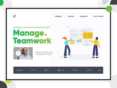 Team work Landing Page Design