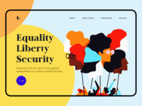 Women rights Landing page Design