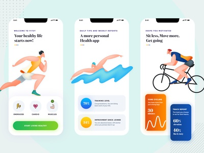 Fittness app UI