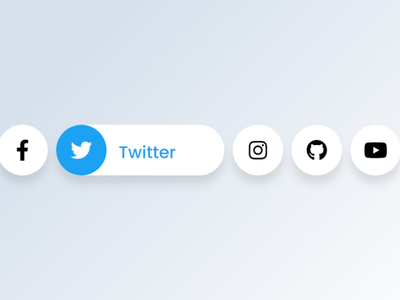 Awesome Social Media Buttons with Hover Animation | HTML & CSS hover animation and effect css css hover effect css hover animation htmlcss social media design