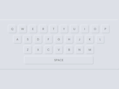 Neumorphism Keyboard Design using only HTML & CSS neomorphic ui design neumorphism keyboard design html and css keyboard design neumorphism design neomorphic