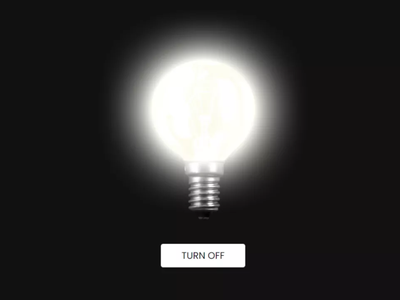 Glowing Bulb Effect using only HTML   CSS glowing effect on bulb glowing bulb effect html css css glowing effect glowing effect