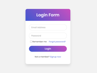 Login Form with Floating Label Animation using only HTML & CSS html css form design floating label animation form html css login form design login form
