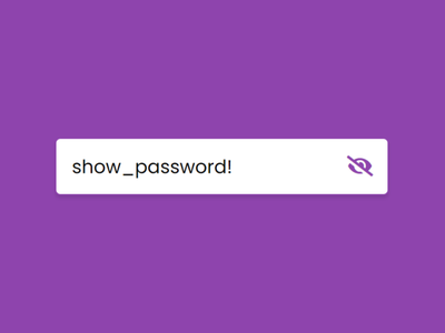Password Show or Hide Toggle using HTML CSS & JavaScript toggle button javascript password show hide button password show hide toogle