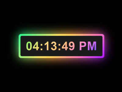 Digital Clock with Colorful Glowing Effect using HTML CSS & Java css glowing animation css glowing effect html css working clock javascript clock javascript clock digital clock