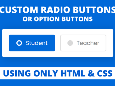 Custom Radio Buttons using only HTML & CSS option button custom radio button radio button html radio button