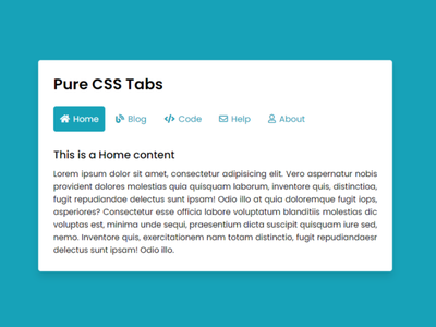 Pure CSS Tabs with Slide Indicator | Tabs using only HTML & CSS css tabs design codingnepal tabs with indicators navigation bar tabs css tabs
