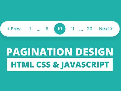 Pagination UI Design using HTML CSS & JavaScript codingnepal javascript pagination pagination in javascript pagination ui design pagination