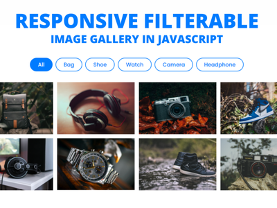 Responsive Filterable Image Gallery using HTML CSS & JavaScript filterable gallery javacript image filter in javascript css image gallery responsive image gallery filterable image gallery image gallery