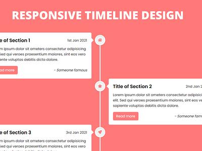 Responsive Vertical Timeline Design using only HTML & CSS vertical timeline design responsive vertical timeline css responsive timeline css vertical timeline css timeline css