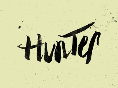 Hunter Lettering WIP
