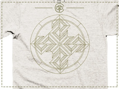Northern Compass Cotton Bureau Tee design cotton-bureau cotton tee logo