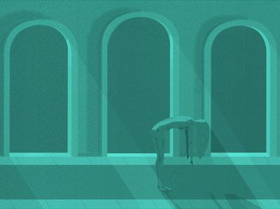 Synths In Church cyan cartoon typography design retro illustration art illustration design art cinematic