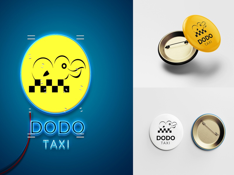 Amazing DODO TAXI logo design logodesign website icon logo ux animation design illustration branding typography