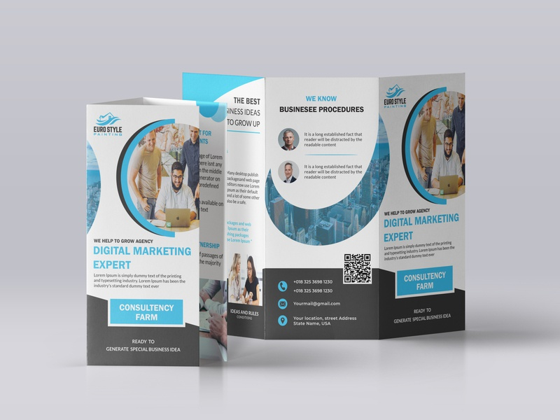 Digital Marketing Trifold Brochure Design trifold template trifold brochure graphic design brochure layout brochure mockup brand design brochure template brochure design branding design brochure logodesign icon website vector ux animation design illustration branding typography
