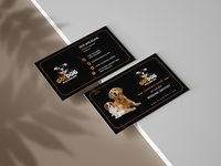 Dog Breeding company business card design brochure website social media banner logodesign branding vector design animation typography illustration