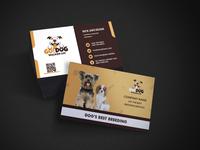 Dog Breeding company business card design brochure flyer social media banner logodesign vector design animation typography illustration branding