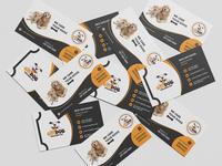 Dogs Breeding Business card Design website social media banner logo logodesign vector design animation typography illustration branding