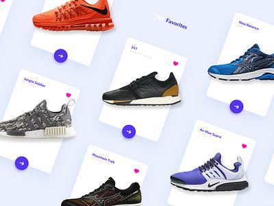 Daily UI #044 - Favorites 044 dailyui044 sneakers favorites ux interface design design interface ui dailyui