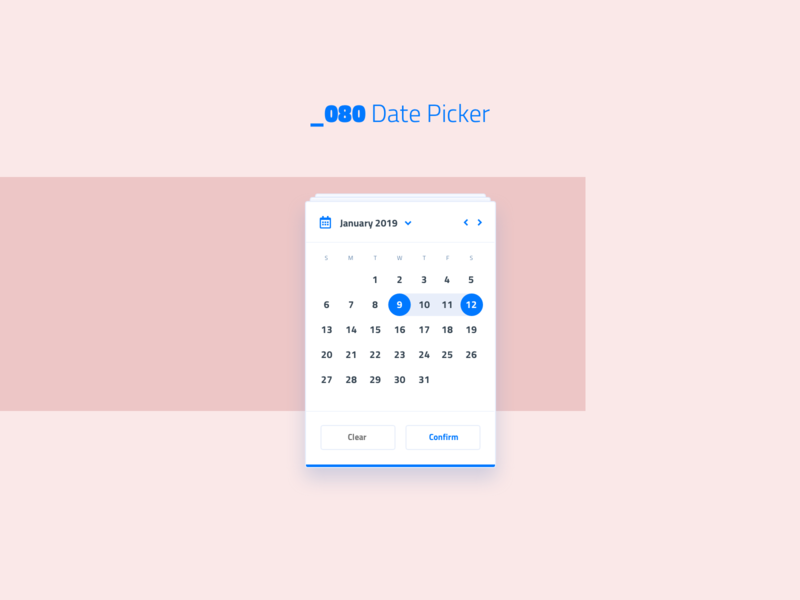 Daily UI #080 - Datepicker