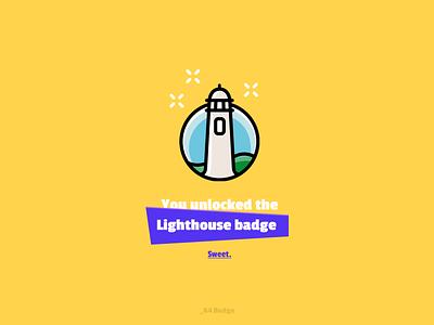 Daily UI #084 - Badge lighthouse 084 badge ui dailyui