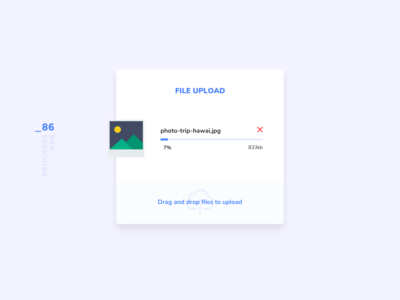 Daily UI #086 - Progress Bar