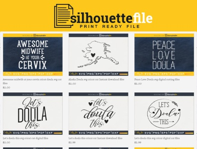 Best Doulas Svg Craft Cut Files By Silhouettefile On Dribbble