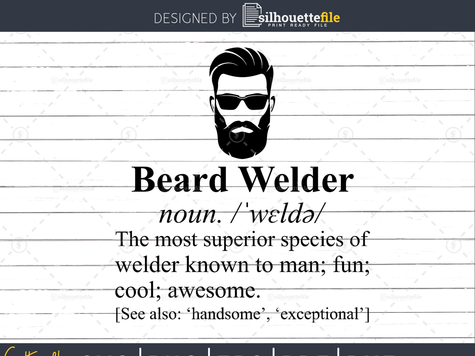 Download Beard Yourself – Svg File Design