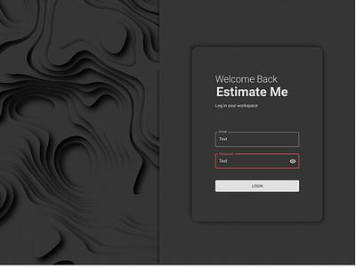 Estimate Me ui web ux